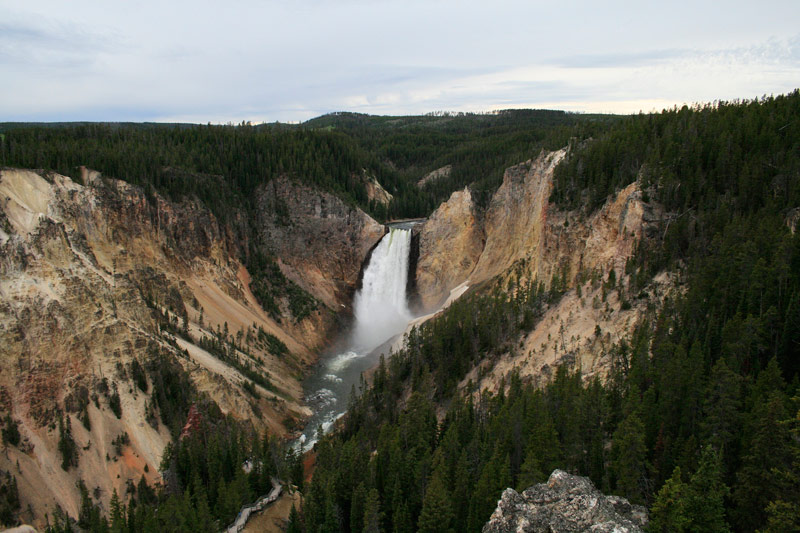 """""""Upper Yellowstone Falls,"""" photograph by Katie Senunas will be on display in a free public exhibition in the Widmann Gallery at King's College."""